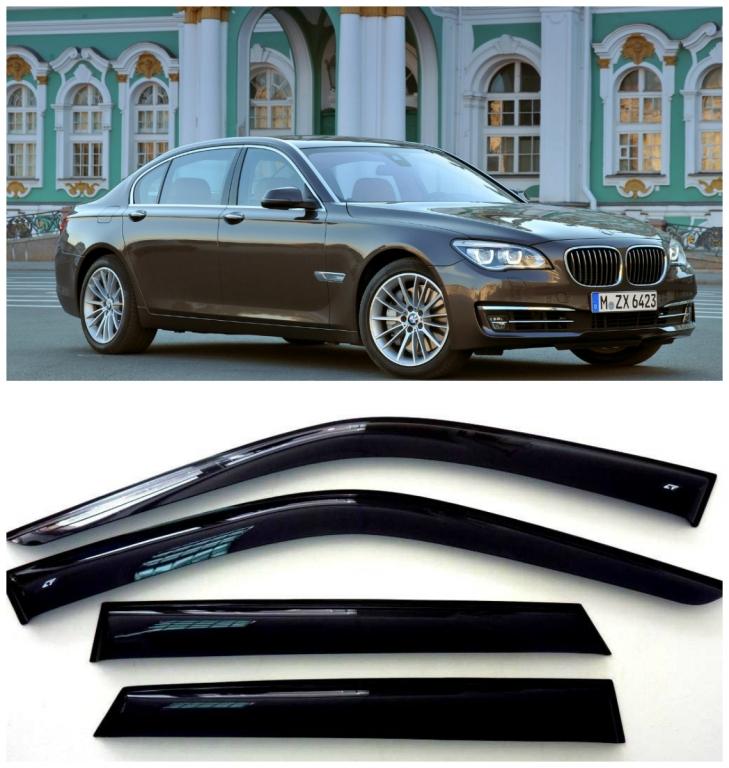 Дефлекторы боковых стекол на БМВ 7 Седан - BMW 7 Sd (F02/F04) Long 2008-2015