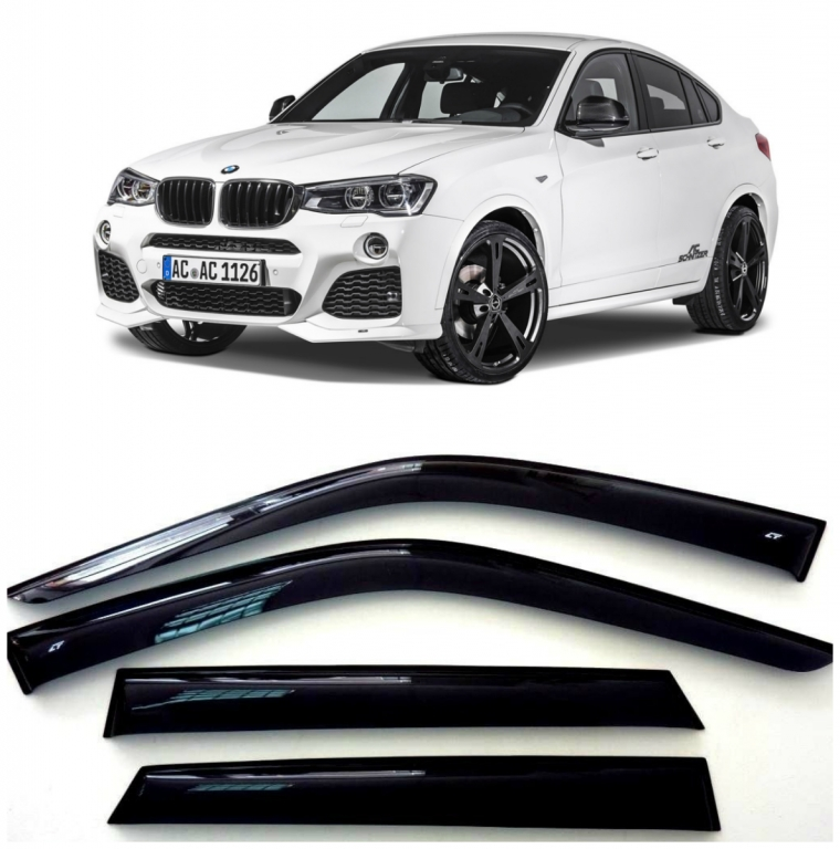 Дефлекторы боковых Окон на БМВ Х4 - BMW X4 (F26) 2014-2016