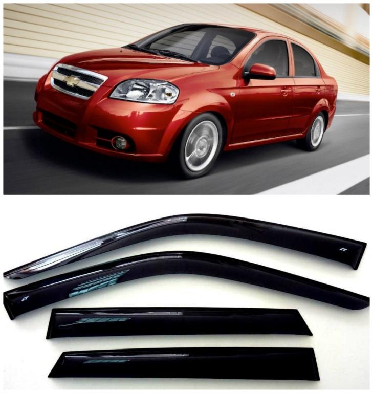 Дефлекторы боковых стекол на Шевроле Авео I Седан - Chevrolet Aveo I Sedan 2006-2010