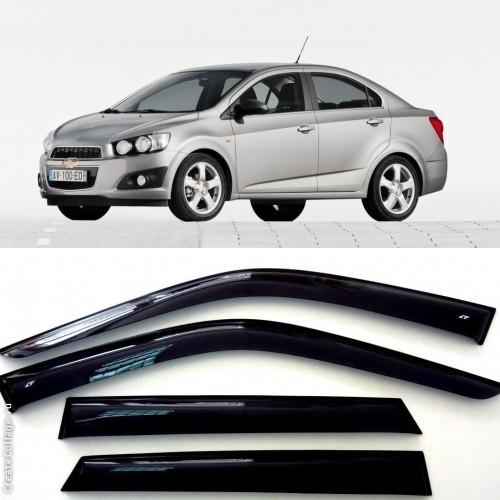 Дефлекторы боковых Окон на Шевроле Авео II Седан - Chevrolet Aveo II Sedan 2011