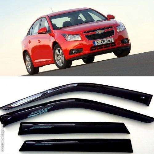 Дефлекторы боковых стекол на Шевроле Круз Седан - Chevrolet Cruze Sedan 2009