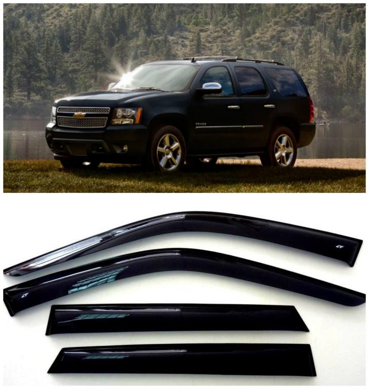Дефлекторы боковых стекол на Шевроле Тахо 3 (GMT 900) - Chevrolet Tahoe 3 (GMT 900) 2007-2014